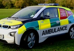 Paramedics use electric cars!